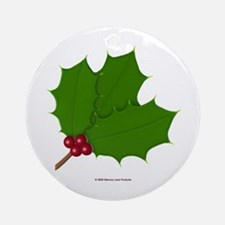 Christmas Holly-days Ornament (Round)