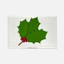 Christmas Holly-days Rectangle Magnet
