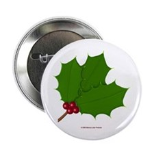 Christmas Holly-days Button