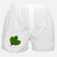 Christmas Holly-days Boxer Shorts