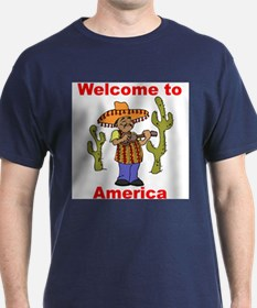 Funny Welcome to america T-Shirt