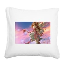 Lovely butterfly fairy Square Canvas Pillow