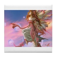 Lovely butterfly fairy Tile Coaster