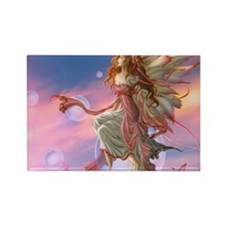 Lovely butterfly fairy Rectangle Magnet