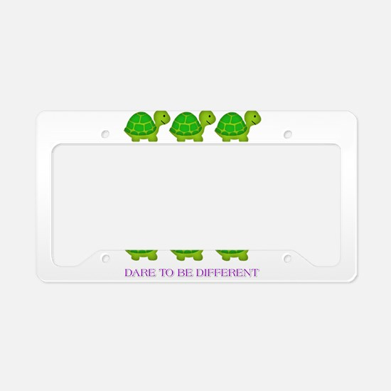 Dare to be Different Turtles License Plate Holder