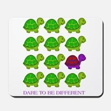 Dare to be Different Turtles Mousepad