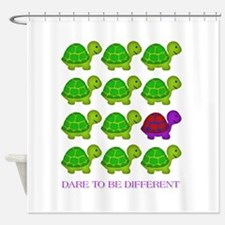 Dare to be Different Turtles Shower Curtain