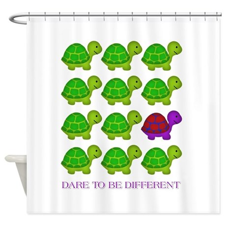 Good Dare To Be Different Turtles Shower Curtain