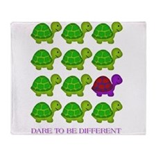 Dare to be Different Turtles Throw Blanket