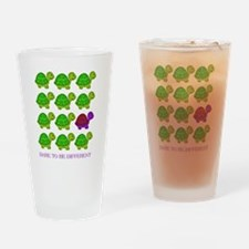 Dare to be Different Turtles Drinking Glass