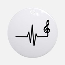 Frequency music note Ornament (Round)