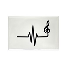 Frequency music note Rectangle Magnet