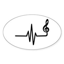 Frequency music note Decal