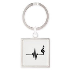 Frequency music note Square Keychain