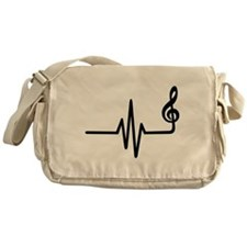 Frequency music note Messenger Bag