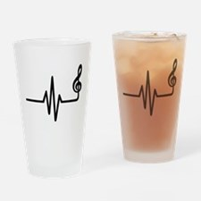 Frequency music note Drinking Glass