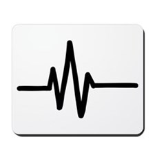 Frequency pulse beat Mousepad