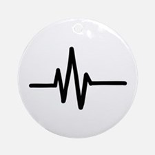 Frequency pulse beat Ornament (Round)