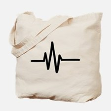 Frequency pulse beat Tote Bag