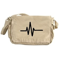 Frequency pulse beat Messenger Bag