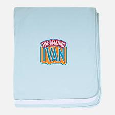 The Amazing Ivan baby blanket