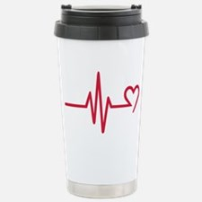 Frequency heart love Travel Mug