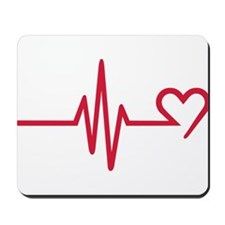 Frequency heart love Mousepad