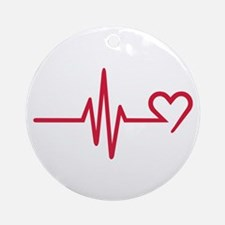 Frequency heart love Ornament (Round)