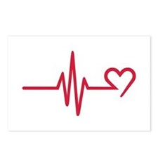 Frequency heart love Postcards (Package of 8)