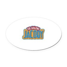 The Amazing Jacoby Oval Car Magnet