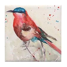 Southern Carmine Bee-Eater Bird Tile Coaster