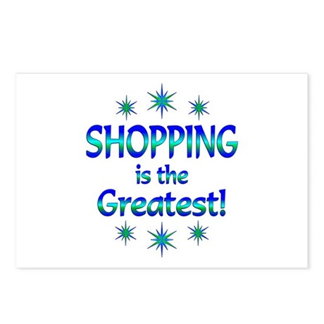 Shopping is the Greatest Postcards (Package of 8)