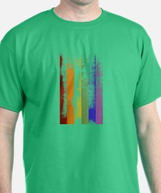 Worn Rainbow Stripes T-Shirt