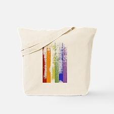 Worn Rainbow Stripes Tote Bag
