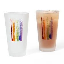 Worn Rainbow Stripes Drinking Glass