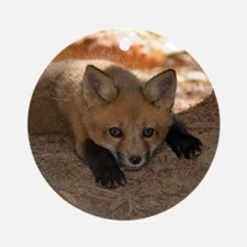 Red fox kit Ornament (Round)