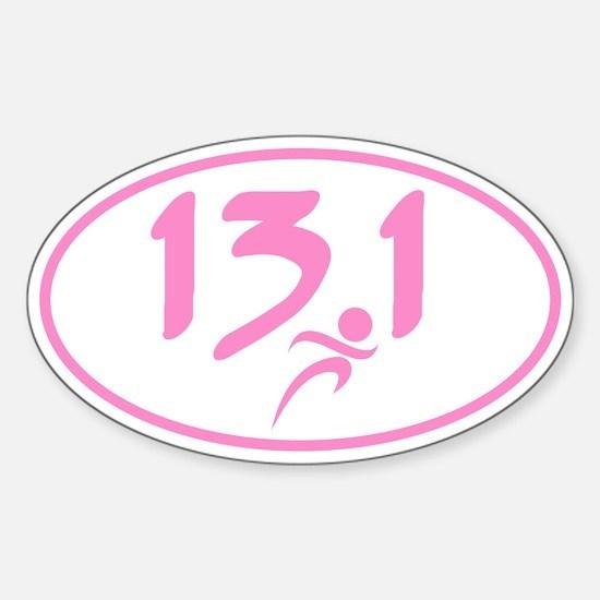 Pink 13.1 marathon Decal
