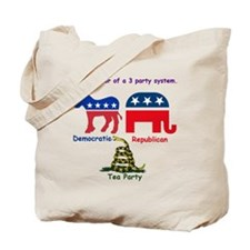 3 Party System Tote Bag