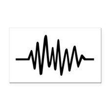 Frequency music pulse Rectangle Car Magnet