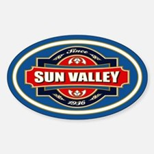 Sun Valley Old Label Sticker (Oval)