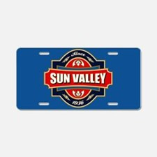 Sun Valley Old Label Aluminum License Plate
