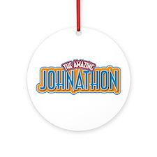 The Amazing Johnathon Ornament (Round)