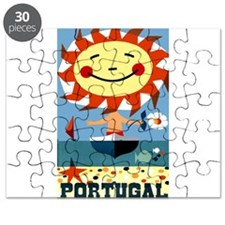 Vintage Portugal Sun, Sand and Sea Travel Poster P
