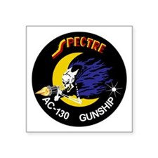 "AC-130 Spectre Square Sticker 3"" x 3"""