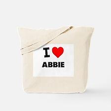 I Love Abbie Tote Bag
