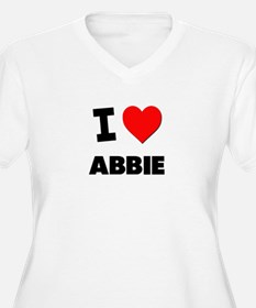 I Love Abbie Plus Size T-Shirt