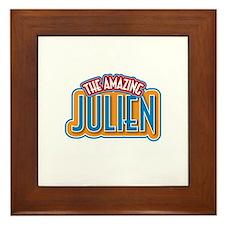The Amazing Julien Framed Tile