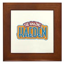 The Amazing Kaeden Framed Tile