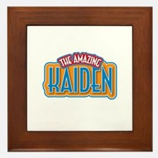 The Amazing Kaiden Framed Tile