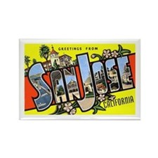 San Jose California Greetings Rectangle Magnet